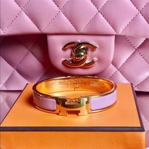 NEW Hermès Rose Velours & Enamel With Palladium